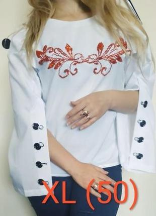 Блуза вишиванка бісером