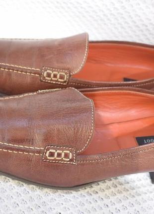 Кожаные туфли лоферы мокасины navyboot швейцария р.40