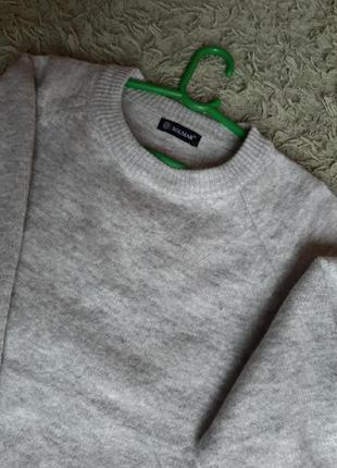 Сірий светр onesize, шерсть, котон