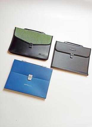 Папка- портфель канцелярский для бумаг 3шт.комплект