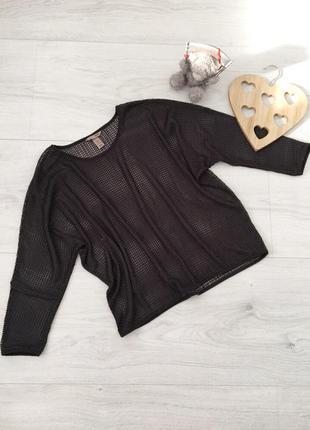 Блуза вязка кольчуга, кофта сетка реглан, оверсайз