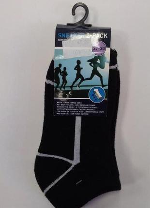 Спортивные, беговые, носки, для мальчика, упаковка 2шт, короткие, sneaker, размер 27-30