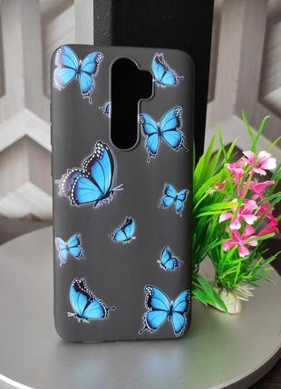 Силиконовый чехол для xiaomi redmi note 8 pro бабочки
