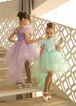 Нарядное детское платье с бантом на утреник