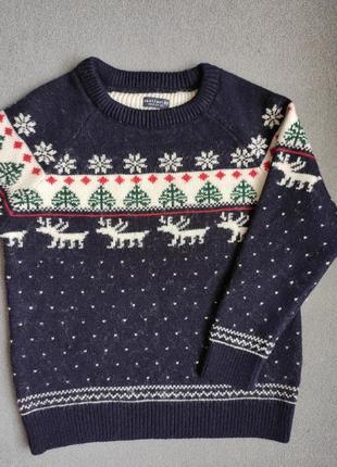 Кофта, светр з оленями; свитер с оленями