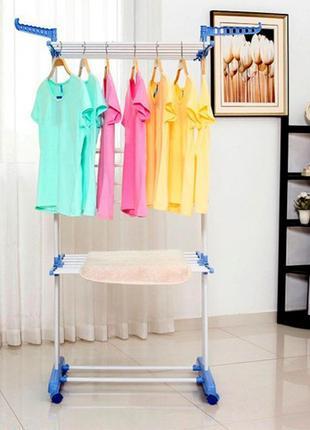Сушилка органайзер для вещей spray painting clothes hanger до 40 кг
