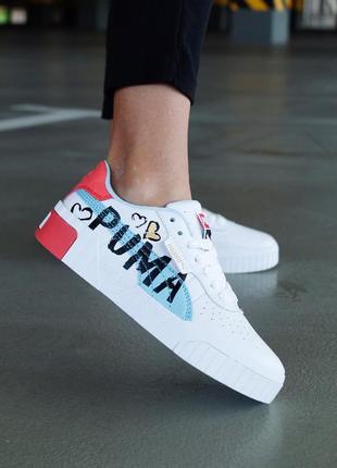 Puma cali graffiti letter board кеди кроссовки пума кросівки жіночі кеди