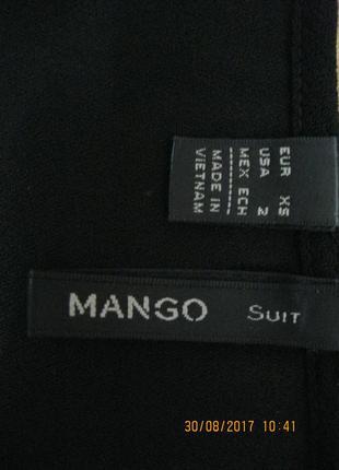 Струящаяся блузка mango из крепа5