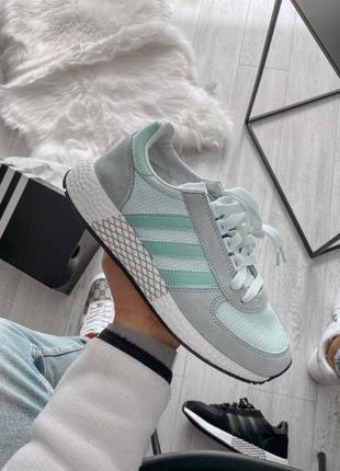 ❤ женские серые текстильные кроссовки adidas ❤