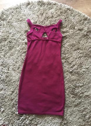 Сукня марсалового кольору