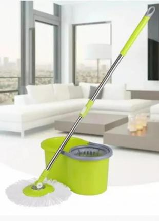 Швабра с ведром spin mop и турбо отжимом (39 rm)