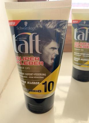 Гель для фиксации волос taft super kleber 10