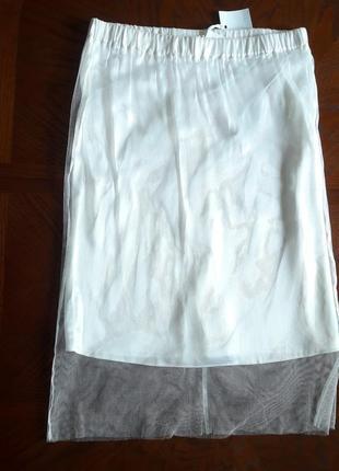 Красивая двухслойная юбка