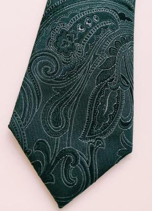Широкий жаккардовый галстук с узором пейсли3 фото