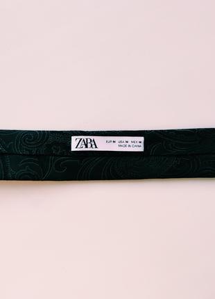 Широкий жаккардовый галстук с узором пейсли5 фото