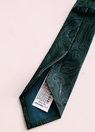 Широкий жаккардовый галстук с узором пейсли4 фото