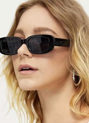 Уценка! трендовые солнцезащитные очки 2021, прямоугольные очки6 фото