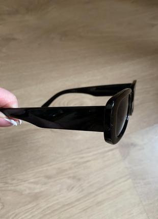 Уценка! трендовые солнцезащитные очки 2021, прямоугольные очки4 фото