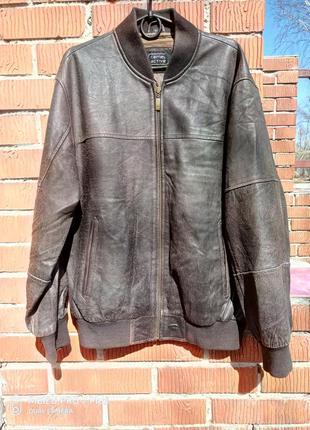 Роскошная кожаная куртка 50-52