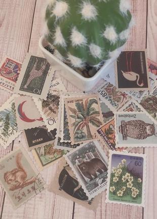 Набор винтажных этикеток-марок для скрапбукинга и декора