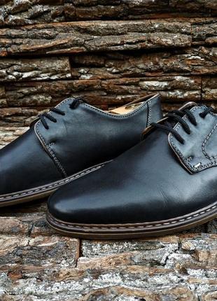 Дерби rieker 43 размер туфли мужские дерби кожа лёгкие