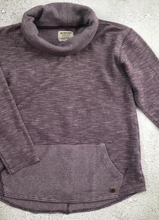 Брендовый, тепленький свитер с большим воротником burton durable goods. s