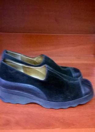Комфортные туфли натуральная кожа и замш