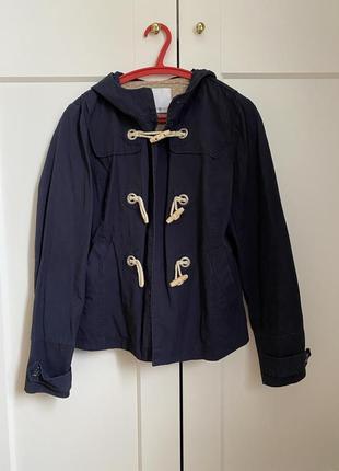 Легкая куртка темно синяя h&m