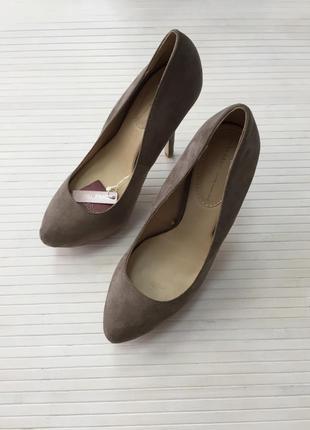 Туфли на высоком каблуке, искусственный замш 38р, zara