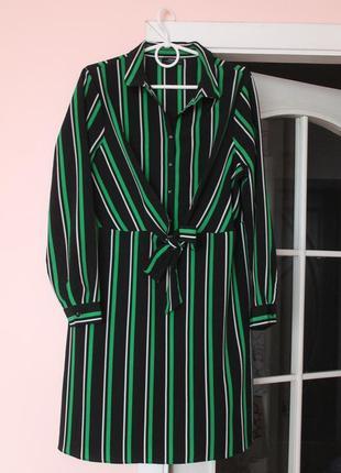 Полосатое платье, платьице, сукня, удлинённая рубашка 48-50 р.