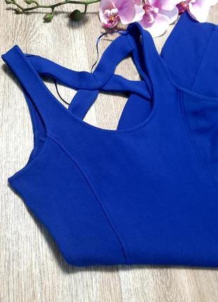 Шикарное платье pull&bear / платье футляр / мини платье / xs s / синее платье / сарафан /
