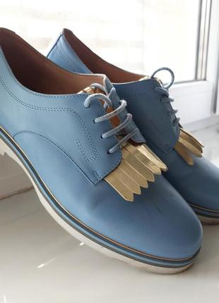 Туфли кожаные antonio biaggi 37 размер голубые