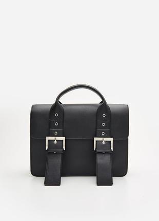 """Стильная сумка-портфель """"cropp"""" на широком ремешке."""