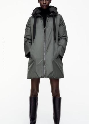 Новая женская демисезонная короткая двусторонняя куртка курточка zara 36 38 s m