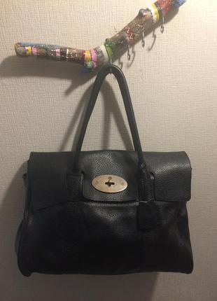 Шикарная кожаная сумка mulberry оригинал