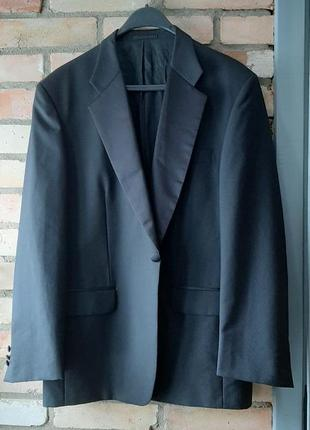 Пиджак смокинг 60 шерсть подкладка вискоза