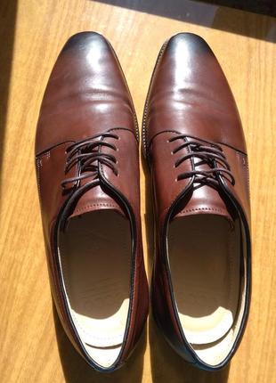 Туфли кожанные ecco, оригинал.