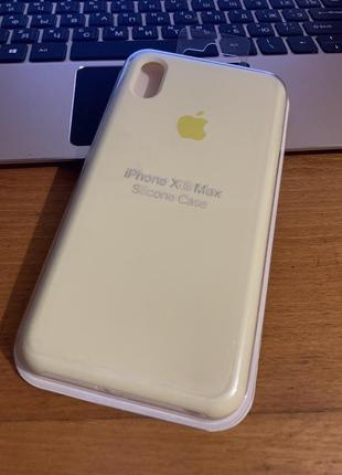 Чехол на iphone xs max silicone case