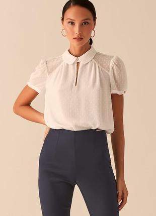 Блузка с рукавами-фонариками и отложным воротничком love republic 0358025319-60