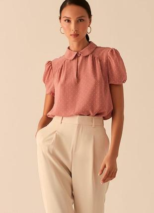 Блузка с рукавами-фонариками и отложным воротничком love republic 0358025319-93