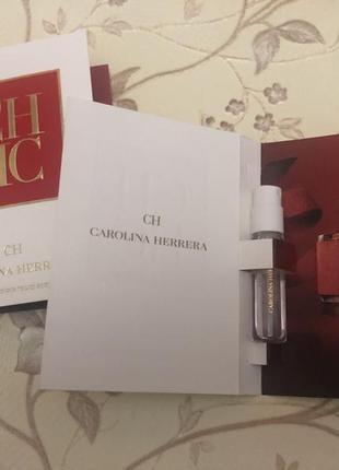 Пробник женской парфюмированной воды carolina herrera ch 1,5 мл оригинал