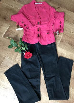 Яркий модный пиджак + джинсы, размер s