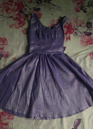 Сиреневое платье elegance