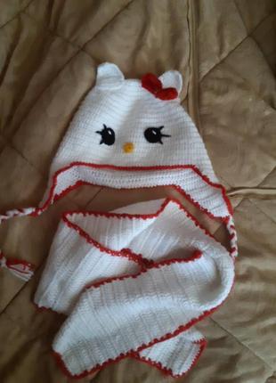 Шапочка и шарфик kitty