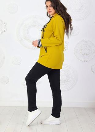 Повседневный женский костюм спортивный. батал6 фото
