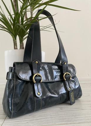 Кожаная сумка багет винтаж kenar