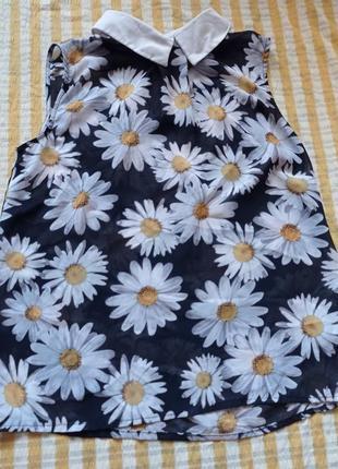 Блузка блузка идеальная ромашка цветочный принт