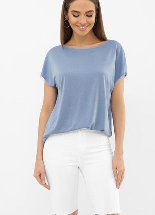 Женская футболка турция джинс/ лаванда/ пыльная роза