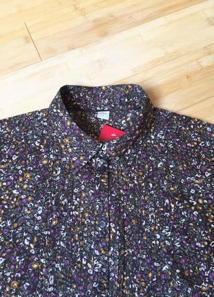 Шоколадная,хлопковая блуза-рубашка