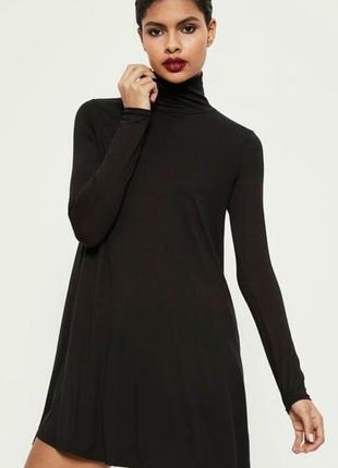 Черное платье трапеция гольф missguided